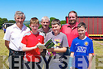 MARKING: marking their programme at Castleisland Races on Geaney's Land on Sunday Front l-r: Timothy Tierney, JJ Cronin and Denis Cronin (Athea), John Joe Tierney, Sean King and Pat Buckley (Athea)........................................ ....