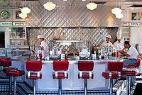 USA, Florida, Miami: Fast-Food Restaurant im 60er Jahre Stil | USA, Florida, Miami: fast-food restaurant, sixties style
