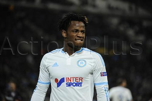 18.02.2016. Marseille, France. UEFA Europa league football. Marseille versus Athletic Bilbao.  Batshuayi (OM)