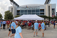 Houston, TX - Thursday July 20, 2017: Fans in front of NRG Stadium for a match between Manchester United and Manchester City in the 2017 International Champions Cup at NRG Stadium.