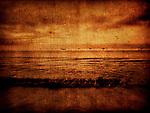 A beach scene with textures