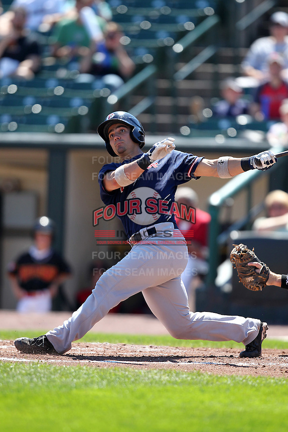 Pawtucket Red Sox catcher Mark Wagner during a game vs. the Rochester Red Wings at Frontier Field in Rochester, New York;  August 29, 2010.   Rochester defeated Pawtucket 6-3.  Photo By Mike Janes/Four Seam Images