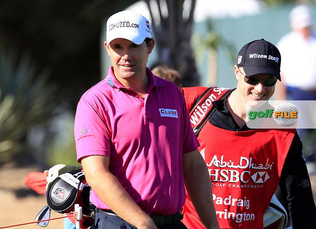 Padraig Harrington (IRL) walks onto the 18th tee during Friday's Round 2 of the Abu Dhabi HSBC Golf Championship at Abu Dhabi Golf Club, 18th January 2013 (Photo Eoin Clarke/www.golffile.ie)