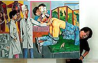 Chinese painter Song Yonghong, Beijing, China.<br /> <br /> By Ricky Wong / Sinopix