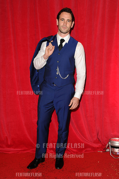 Ayden Callaghan arriving for the 2014 British Soap Awards, at the Hackney Empire, London. 24/05/2014 Picture by: Steve Vas / Featureflash