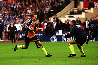 Manchester City goalkeeper, Nicky Weaver, celebrates after saving a penalty in the shoot-out to win the Division Two Play-Off Final during Manchester City vs Gillingham, Nationwide League Division Two Football at Wembley Stadium on 30th May 1999
