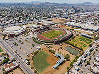 Vista aerea de Complejo deportivo de la Comisión Estatal de Deporte, CODESON en Hermosillo, Sonora....<br /> Estadio Héroe de Nacozari. <br /> CUM. <br /> Estadio de béisbol Estadio Fernando M. Ortiz<br /> Campo De Tiro Con Arco.<br /> Capos Deportivos de la Liga Oxxo.<br /> <br /> <br /> Photo: (NortePhoto / LuisGutierrez)<br /> <br /> ...<br /> keywords: