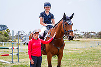 FEI World Eventing Champion, Rosalind Canter, takes a masterclass in cross country jumping techniques using simple showjumping fences. 2019 NZL-Puhinui International Three Day Event. Puhinui Reserve. Auckland. Friday 6 December. Copyright Photo: Libby Law Photography
