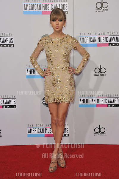 Taylor Swift at the 40th Anniversary American Music Awards at the Nokia Theatre LA Live..November 18, 2012  Los Angeles, CA.Picture: Paul Smith / Featureflash