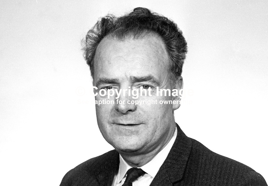 Michael J Keogh, MP, South Down, Nationalist Party, Stormont Parliament, N Ireland, UK, February, 1969, 196902000030b<br />