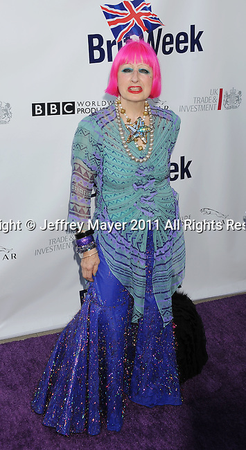 LOS ANGELES, CA - APRIL 26: Zandra Rhodes attends the Champagne Launch Of 2011 BritWeek at British Consul General's Residence on April 26, 2011 in Los Angeles, California.