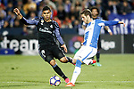 CD Leganes' Ruben Perez (r) and Real Madrid's Carlos Henrique Casemiro during La Liga match. April 5,2017. (ALTERPHOTOS/Acero)