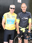 Mark Geraghty and John Clarke who took part in the annual SOSAD cycle in Slane. Photo: Colin Bell/pressphotos.ie