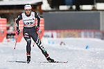 Greta Laurent in action at the sprint qualification of the FIS Cross Country Ski World Cup  in Dobbiaco, Toblach, on January 14, 2017. Credit: Pierre Teyssot