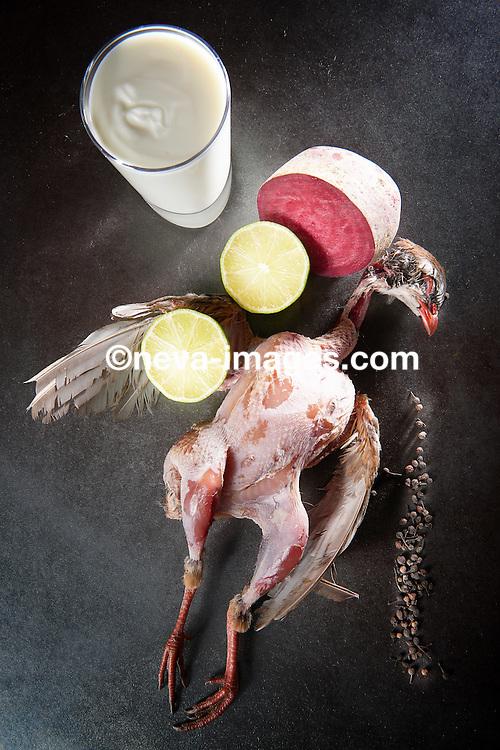 suprême de pigeonneau poélé, betterave à l'aigre doux, et son jus de poivre de madagascar, fraicheur de Yoghurt à la limette