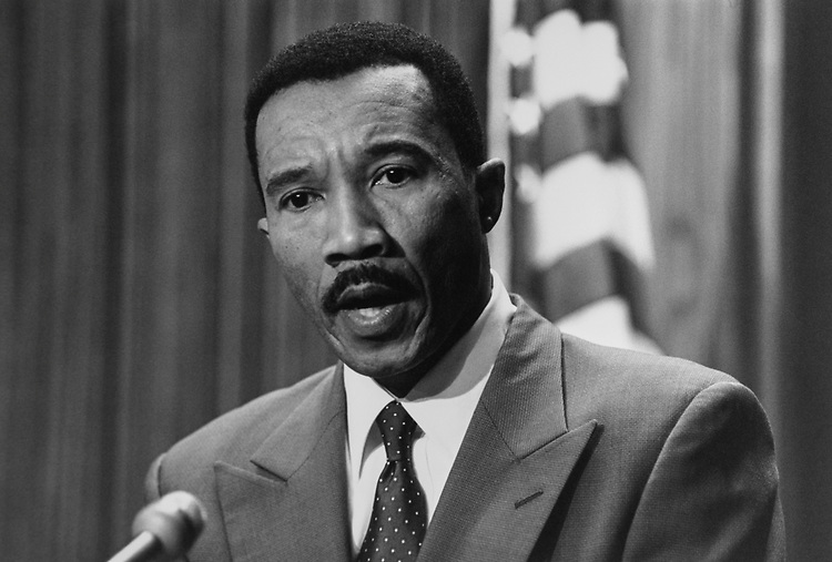 Rep. Kweisi Mfume, D-Md., in May 1994. (Photo by Laura Patterson/CQ Roll Call via Getty Images)