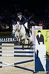 Quanwei Meng of China riding Clintorado competes in the Maserati Masters Power during the Longines Masters of Hong Kong at AsiaWorld-Expo on 10 February 2018, in Hong Kong, Hong Kong. Photo by Ian Walton / Power Sport Images