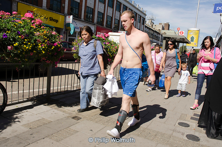 Shoppers in Ilford, Essex