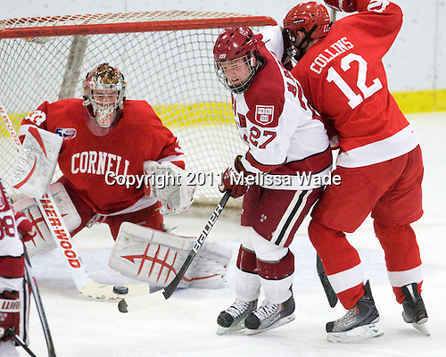 Michael Biega (Harvard - 27), Sean Collins (Cornell - 12) - The visiting Cornell University Big Red defeated the Harvard University Crimson 2-1 on Saturday, January 29, 2011, at Bright Hockey Center in Cambridge, Massachusetts.