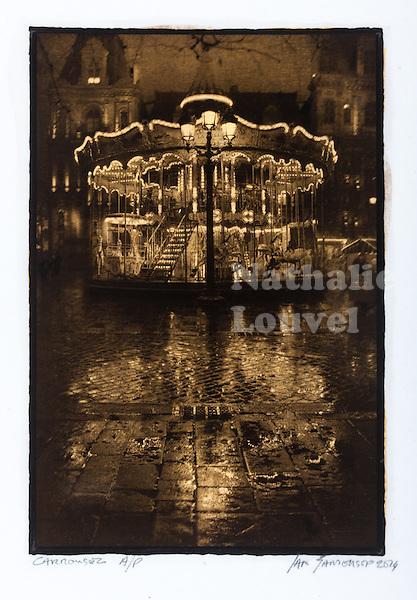 This is a Platinum Palladium print on Velum over pure gold leaf. <br /> Image size 30x20 cm