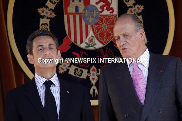 "PRESIDENT NICOLAS SARKOZY AND CARLA BRUNI.Kings Juan Carlos and Sofia received the French president Nicolas Sarkozy and his wife, Carla Bruni at El pardo Palace. Madrid_27/4/2009.Mandatory Credit Photo: ©NEWSPIX INTERNATIONAL..**ALL FEES PAYABLE TO: ""NEWSPIX INTERNATIONAL""**..IMMEDIATE CONFIRMATION OF USAGE REQUIRED:.Newspix International, 31 Chinnery Hill, Bishop's Stortford, ENGLAND CM23 3PS.Tel:+441279 324672  ; Fax: +441279656877.Mobile:  07775681153.e-mail: info@newspixinternational.co.uk"