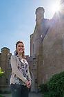 May 15, 2017; Undergraduate student Eva Niklinska outside Jordan Hall of Science (Photo by Matt Cashore/University of Notre Dame)