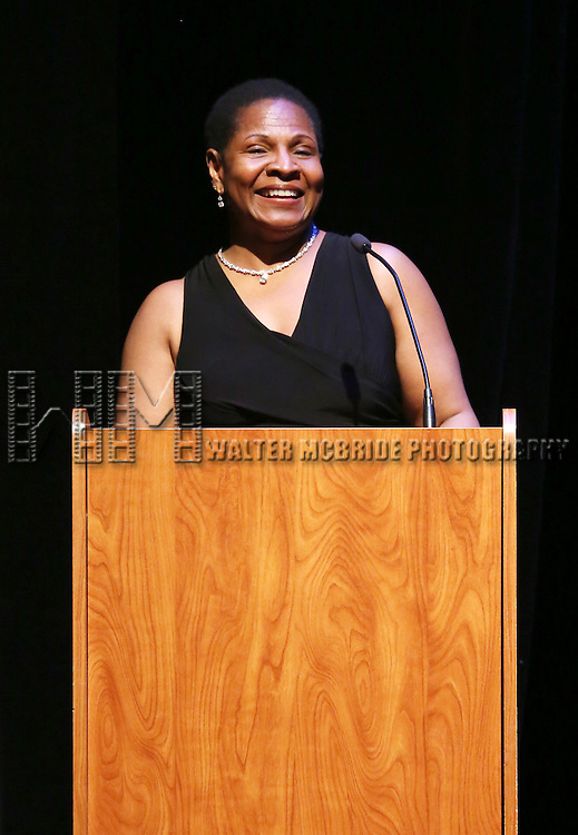Valerie Graves performs at Woodie King Jr.'s New Federal Theatre 44th Anniversary Gala honoring Voza Rivers at BMCC Tribeca Performing Arts Center on March 16, 2014 in New York City.