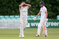 Frustration for Joe Leach of Worcestershire during Worcestershire CCC vs Essex CCC, Specsavers County Championship Division 1 Cricket at Blackfinch New Road on 12th May 2018