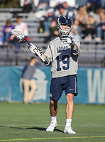 Washington, DC - February 27, 2018: Georgetown Hoyas Jake Carraway (19) calls a play during game between Mount St. Mary's and Georgetown at  Cooper Field in Washington, DC.   (Photo by Elliott Brown/Media Images International)