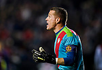 Goalkeeper Alberto Garcia Cabrera, Alberto G, of Rayo Vallecano reacts during the La Liga 2018-19 match between Rayo Vallecano and FC Barcelona at Estadio de Vallecas, on November 03 2018 in Madrid, Spain. Photo by Diego Gouto / Power Sport Images