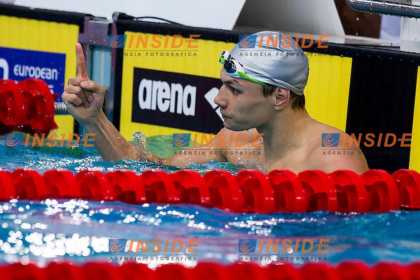 Kuimov Egor RUS<br /> 100 Butterfly Men Final Gold Medal<br /> LEN 43rd Arena European Junior Swimming Championships<br /> Hodmezovasarhely, Hungary <br /> Day05 10-07-2016<br /> Photo Andrea Masini/Deepbluemedia/Insidefoto