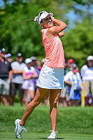 Lexi Thompson (USA) watches her tee shot on 2 during Saturday's round 3 of the 2017 KPMG Women's PGA Championship, at Olympia Fields Country Club, Olympia Fields, Illinois. 7/1/2017.<br /> Picture: Golffile | Ken Murray<br /> <br /> <br /> All photo usage must carry mandatory copyright credit (&copy; Golffile | Ken Murray)