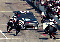 Dale Earnhardt arrives on pit road for service at the Southern 500 at Darlington, SC in September 1994.(Photo by Brian Cleary)