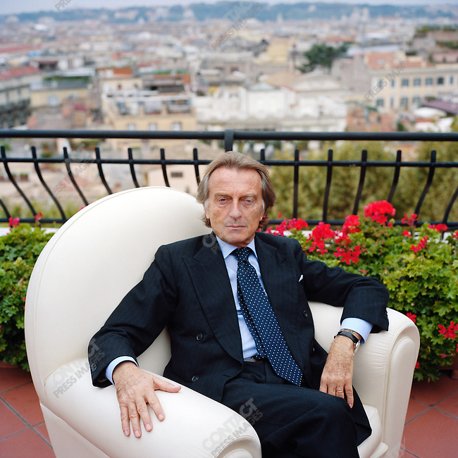Luca Cordero di Montezemolo, Chairman of FIAT and President of Confindustria, photographed on the terrace of the Confindustria building in central Rome. October 25, 2007