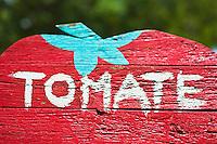 Europe/France/Aquitaine/47/Lot-et-Garonne/Env de Marmande: Panneau vente directe: Tomates