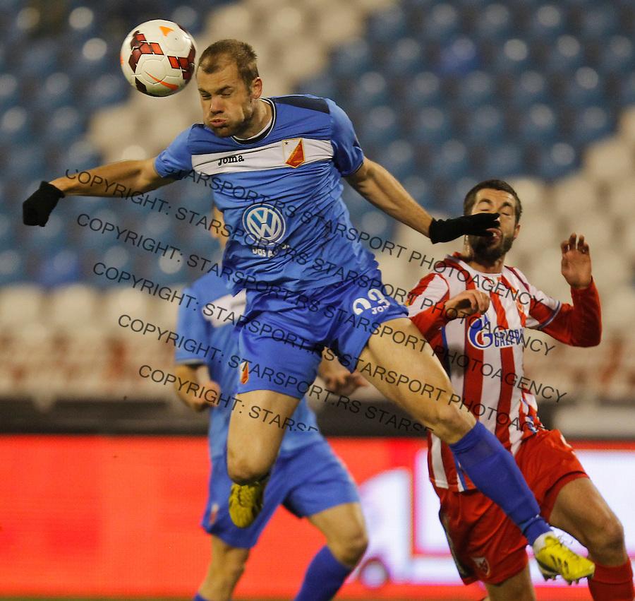 Fudbal Kup Srbije season 2013-2014<br /> Crvena Zvezda v Vojvodina<br /> Igor Djuric (L) and Nikola Mijailovic<br /> Beograd, 04.12.2013.<br /> foto: Srdjan Stevanovic/Starsportphoto &copy;