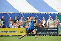 KAATSEN: PINGJUM: 07-09-2014, Gert-Anne van der Bos, Jacob Wassenaar en Daniël Iseger winnen in Pingjum, Cornelis Terpstra aan de opslag, ©foto Martin de Jong