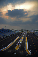 Jun. 28, 2012; Joliet, IL, USA: Overall view of  Route 66 Raceway prior to the NHRA Route 66 Nationals. Mandatory Credit: Mark J. Rebilas-