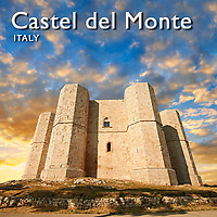 Pictures of Castel Del Monte, Puglia, Italy. Images, Photos & Fotos
