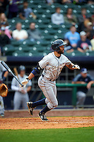San Antonio Missions outfielder Tyson Gillies (23) at bat during a game against the NW Arkansas Naturals on May 30, 2015 at Arvest Ballpark in Springdale, Arkansas.  San Antonio defeated NW Arkansas 5-1.  (Mike Janes/Four Seam Images)