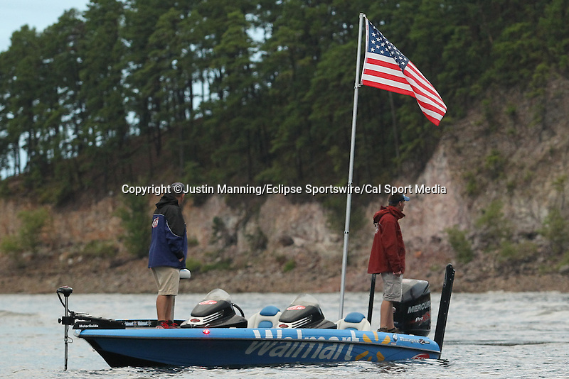 August 22, 2015: Day three of the Forrest Wood Cup on Lake Ouachita in Hot Springs, AR. Justin Manning/ESW/CSM