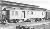 Business car B-1 (2nd) at Alamosa, CO.<br /> D&amp;RGW  Alamosa, CO  Taken by Richardson, Robert W. - 9/29/1949