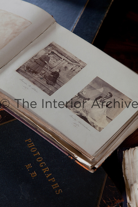 One of the many Victorian photograph albums in the library