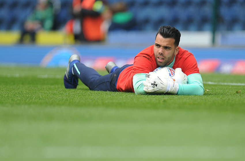 Blackburn Rovers' David Raya during the pre-match warm-up <br /> <br /> Photographer Kevin Barnes/CameraSport<br /> <br /> The EFL Sky Bet Championship - Blackburn Rovers v Swansea City - Sunday 5th May 2019 - Ewood Park - Blackburn<br /> <br /> World Copyright © 2019 CameraSport. All rights reserved. 43 Linden Ave. Countesthorpe. Leicester. England. LE8 5PG - Tel: +44 (0) 116 277 4147 - admin@camerasport.com - www.camerasport.com