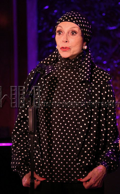 Liliane Montevecchi previews '54 sings 'Grand Hotel:The 25th Anniversary Concert'  during the 54 Below Press preview at 54 Below on May 20, 2015 in New York City.