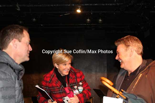 Robert Bogue with Reenie and her brother Michael O'Leary at Breathing Under Dirt - A New Play by Guiding Light's Michael O'Leary and directed by Larry Moss with an industry reading on January 24, 2017 at Cherry Lane Theater, New York City, New York.  (Photo by Sue Coflin/Max Photos)