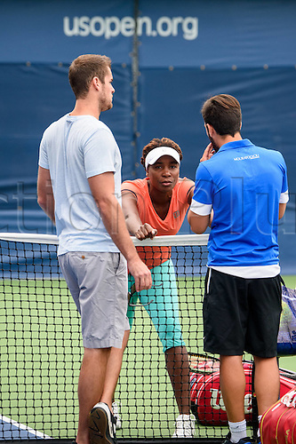 31.08.2015. New York, NY, USA. 2015 U.S. Open Tennis Championships at the USTA Billie Jean King National Tennis Center in Flushing, Queens, New York, USA.  Training Venus Williams