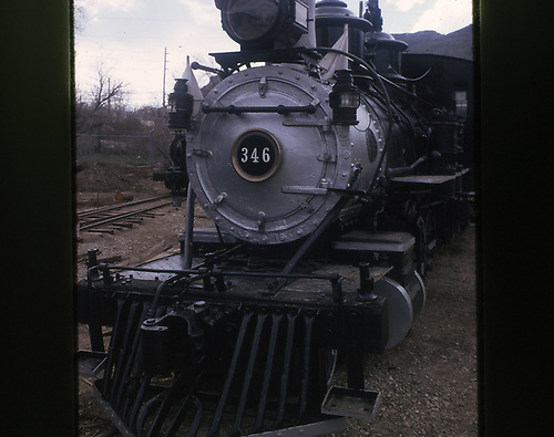 Front view of D&amp;RGW #346 at the Colorado Railroad Museum.<br /> D&amp;RGW  Golden, CO