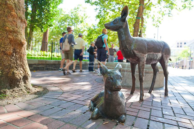 Public art is a large component of downtown Portland, Oregon