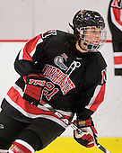 Cassie Sperry (NU - 21) - The Harvard University Crimson defeated the Northeastern University Huskies 1-0 to win the 2010 Beanpot on Tuesday, February 9, 2010 at Bright Hockey Center in Cambridge, Massachusetts.